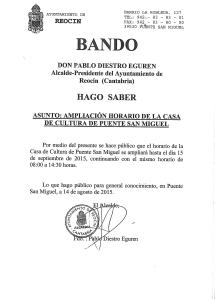 BANDO AMPLIACION HORARIO CASA CULTURA