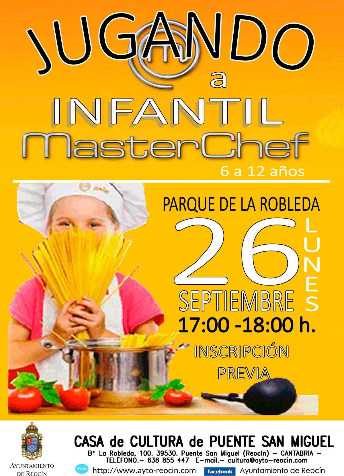 cartel master chef infantil 2016