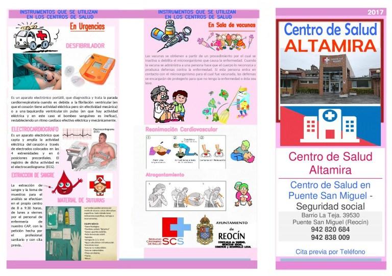 FOLLETO VISITA AL CENTRO DE SALUD ALTAMIRA