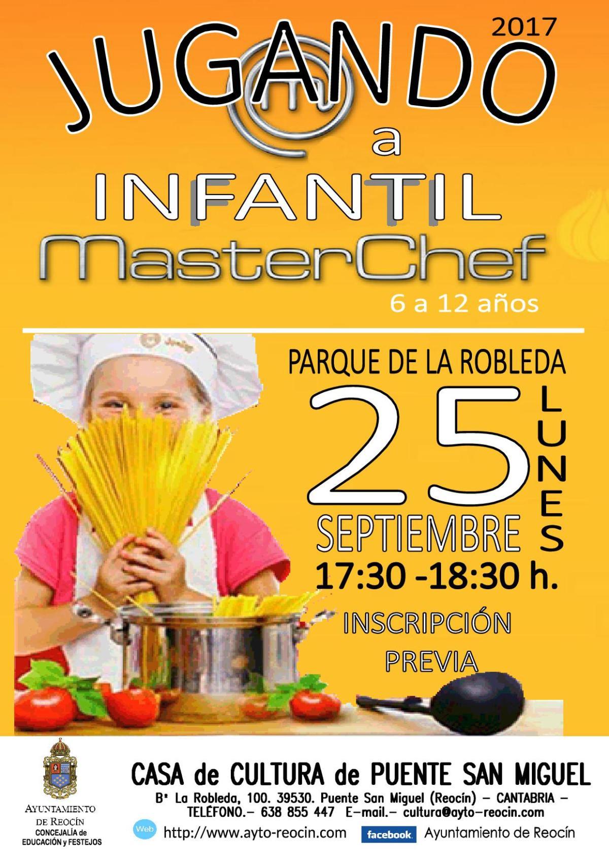 cartel master chef infantil 2017