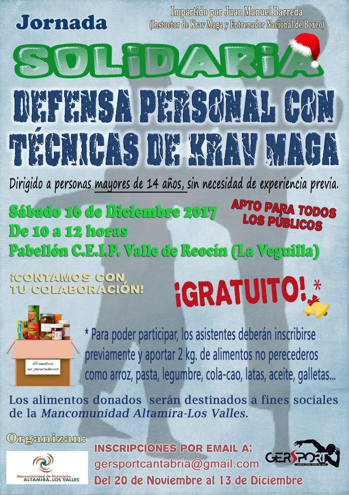 cartel jornada solidaria defensa personal