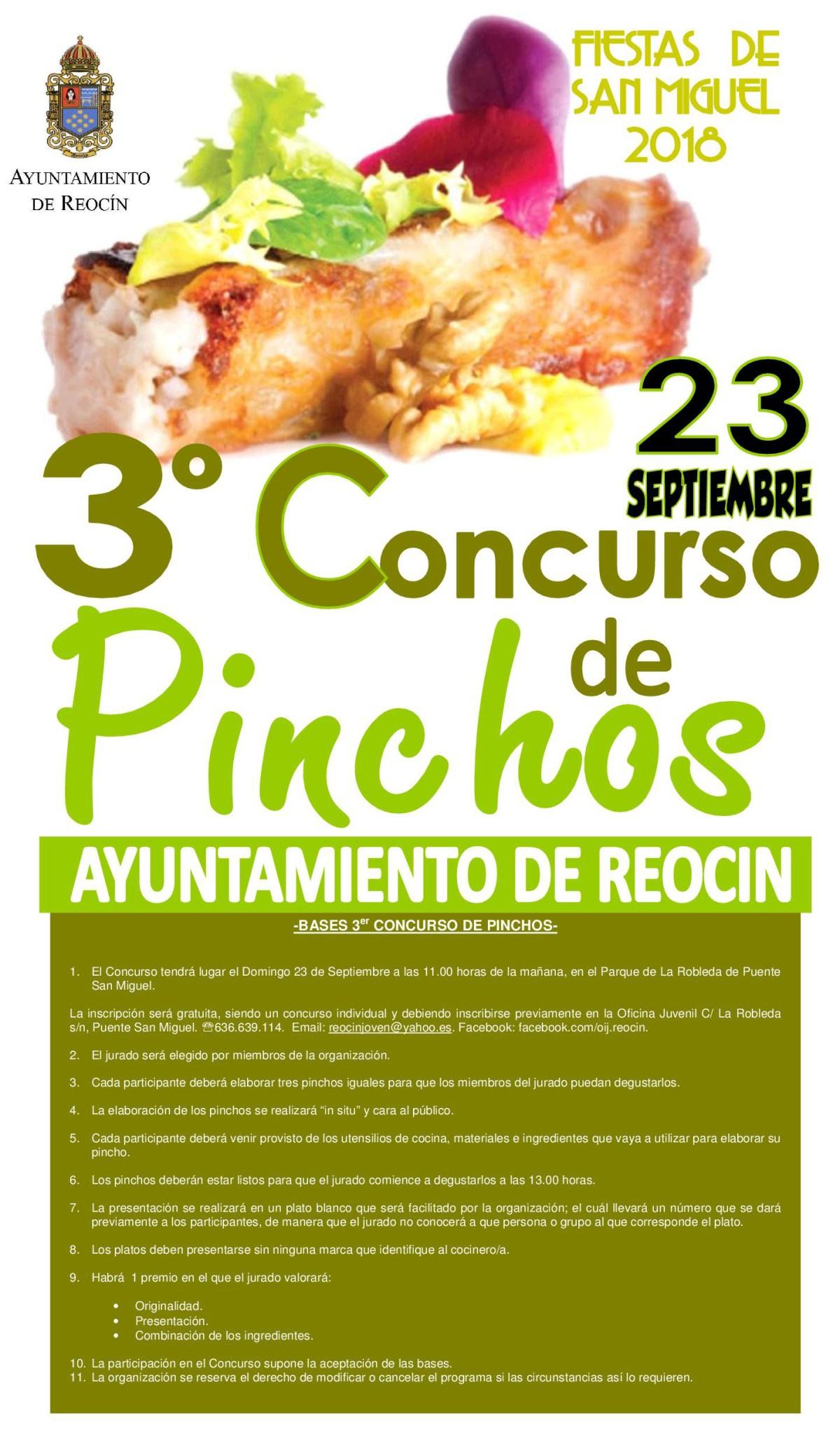 CARTEL CONCURSO DE PINCHOS20188