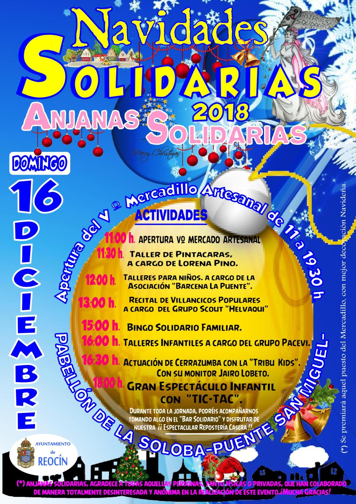 CARTEL NAVIDADES SOLARIAS ANJANAS SOLIDARIAS DIC2018