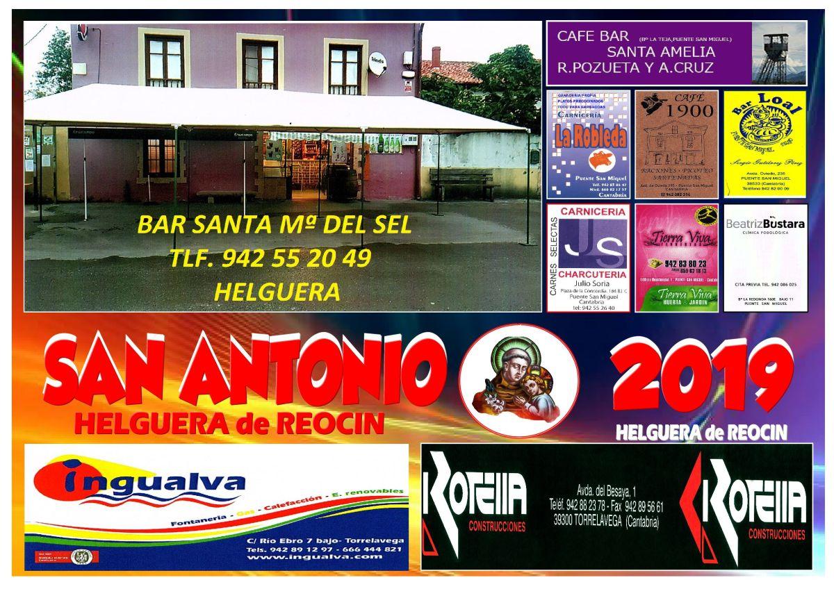 cartel fiestas SAN ANTONIO 2019