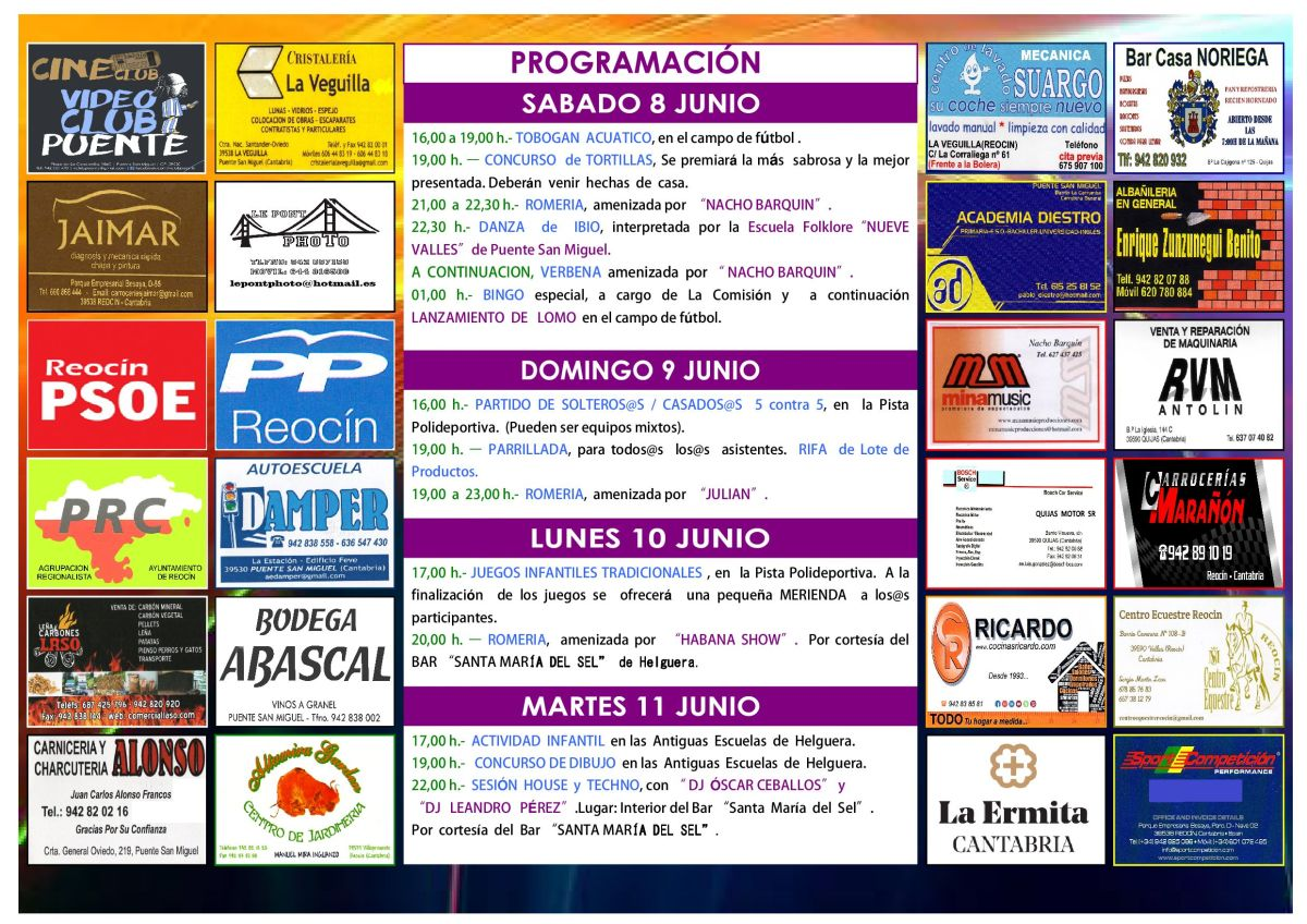 cartel fiestas SAN ANTONIO 20192