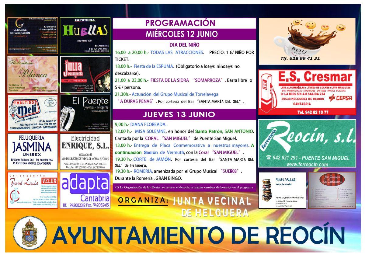 cartel fiestas SAN ANTONIO 20193