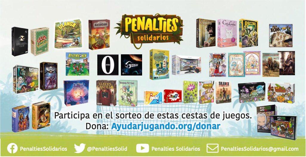 Listado de juegos que entran en el sorteo del torneo Penalties Solidarios