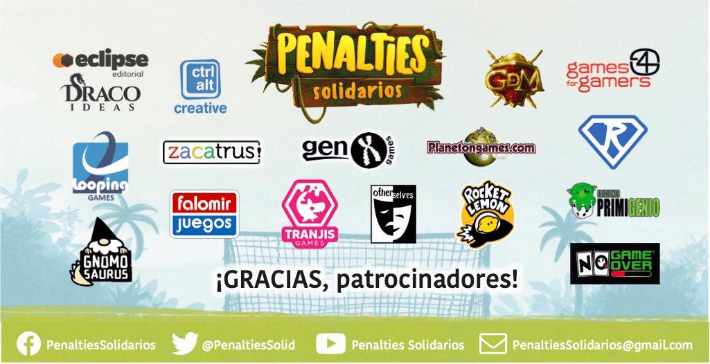 Listado de patrocinadores del torneo Penalties Solidarios