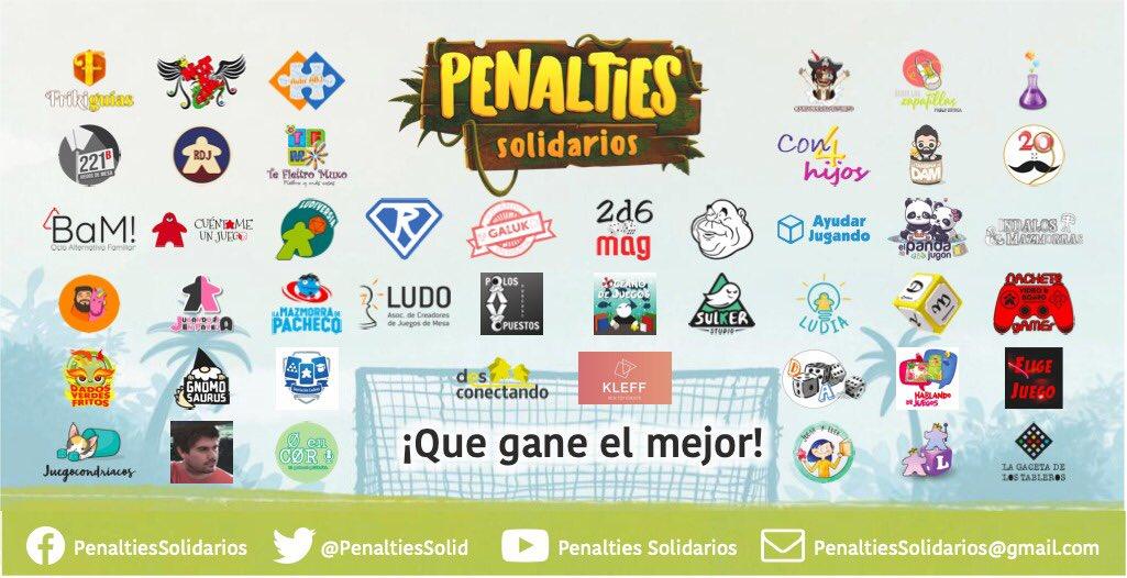 Listado de participantes del torneo Penalties Solidarios
