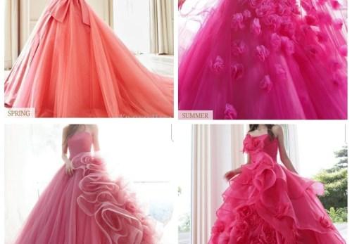パーソナルカラーカラードレス