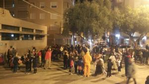Vista parcial de la plaza Mayor en Halloween 2018