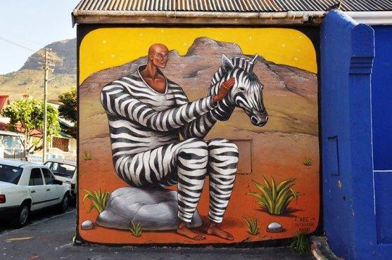 Kota dengan Seni Jalanan Terbaik di Dunia - Seni-Jalanan-Lukisan-Mural-di-Kota-Cape-Town-Afrika-Selatan-1