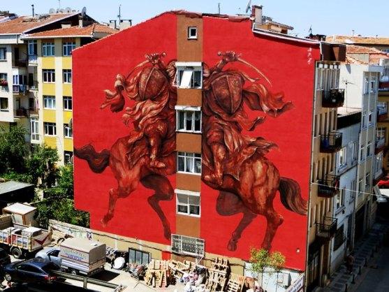 Kota dengan Seni Jalanan Terbaik di Dunia - Seni-Jalanan-Lukisan-Mural-di-Kota-Istanbul-Turkey-1