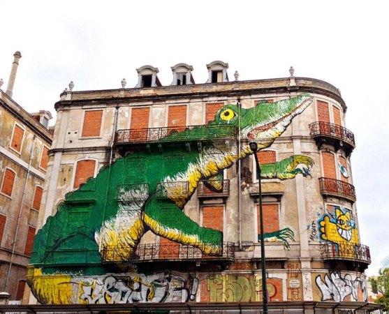 Kota dengan Seni Jalanan Terbaik di Dunia - Seni-Jalanan-Lukisan-Mural-di-Kota-Lisbon-di-Portugal-2