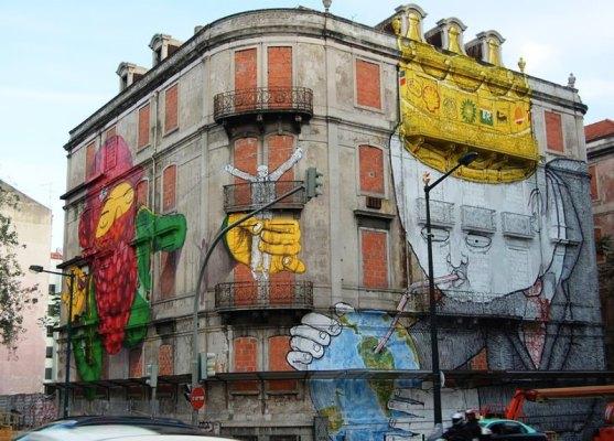 Kota dengan Seni Jalanan Terbaik di Dunia - Seni-Jalanan-Lukisan-Mural-di-Kota-Lisbon-di-Portugal-3