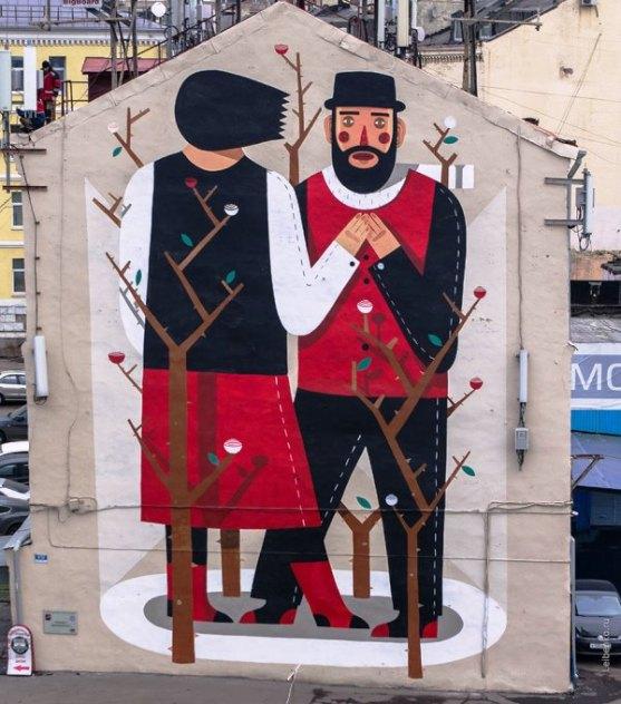 Kota dengan Seni Jalanan Terbaik di Dunia - Seni-Jalanan-Lukisan-Mural-di-Kota-Moskow-di-Rusia-1