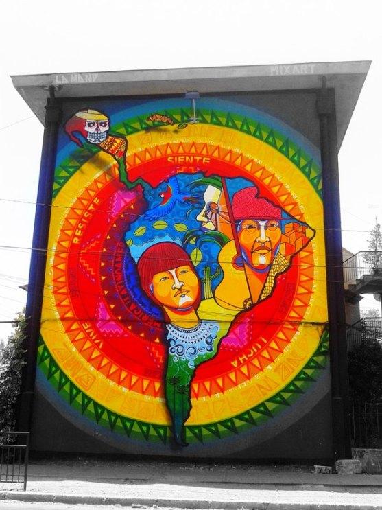 Kota dengan Seni Jalanan Terbaik di Dunia - Seni-Jalanan-Lukisan-Mural-di-Kota-Santiago-di-Chile-2