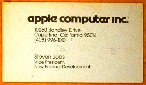 Kartu-Nama-Steve-Jobs-Apple-Computer