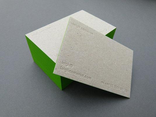 Desain Kartu Nama dengan Cetak Letter Press - leighcameron