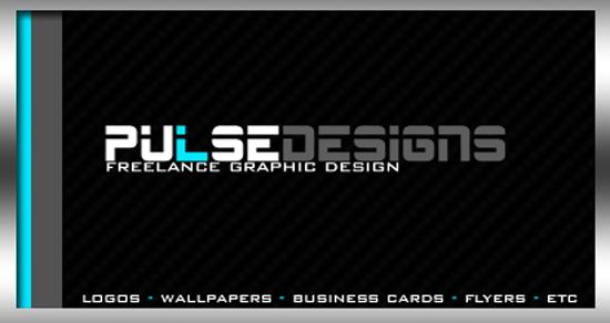 pulsedesigns Photoshop PSD Kartu Nama Unik