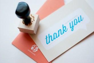 Kartu ucapan terima kasih thank you card A Really Big Thank You 5