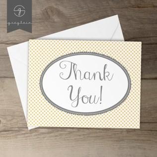 Kartu ucapan terima kasih thank you card Kim Harrington 1