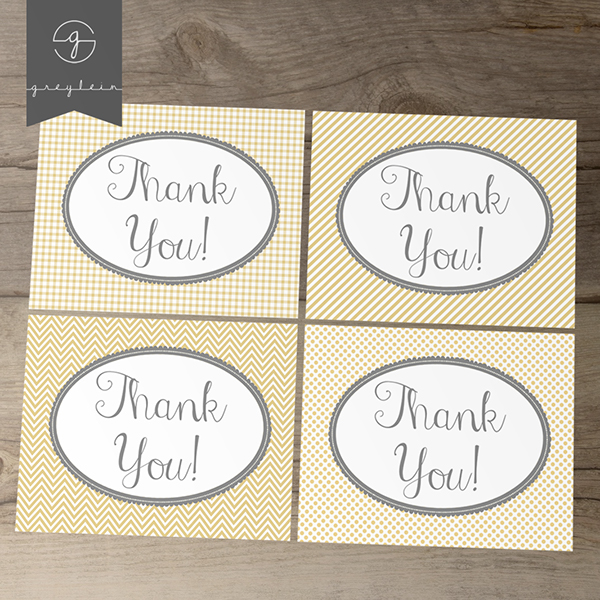 Kartu ucapan terima kasih thank you card Kim Harrington 3