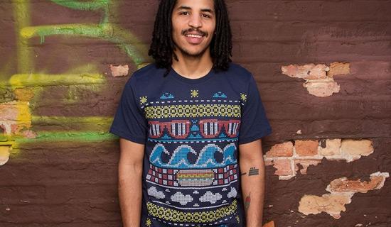 Desain Kaos T Shirt dengan Ilustrasi Keren