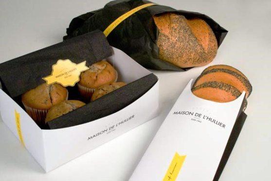 Contoh Desain Kemasan Roti Kue dan Biskuit - Kemasan-Roti-Biskuit-dan-Kue-Maison-De-Lhullier-Bakery