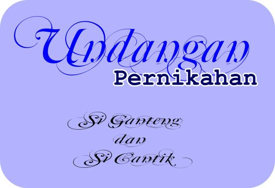 Download Font Typography Invitation