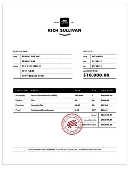 Contoh Faktur Invoice Tagihan - Contoh Desain Invoice Faktur Tagihan 03