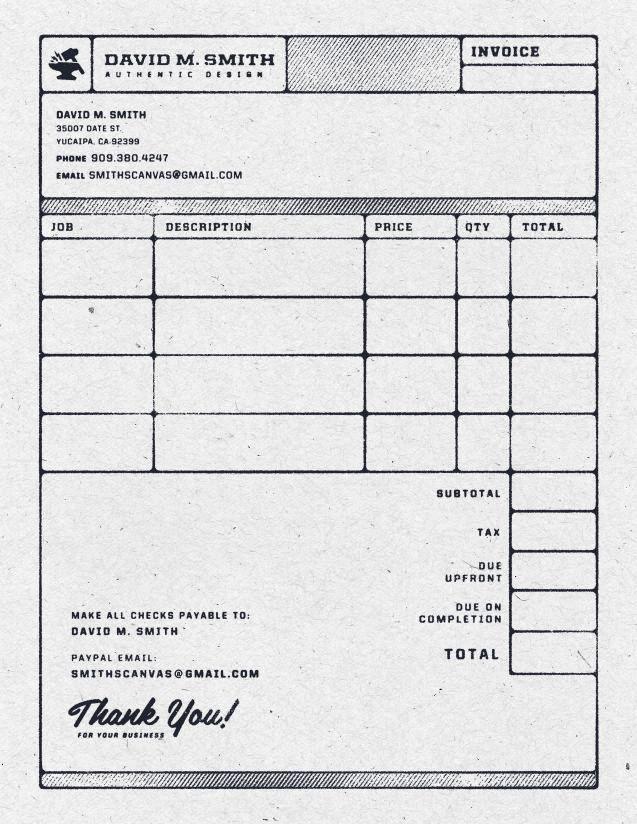 Contoh Faktur Invoice Tagihan - Contoh Desain Invoice Faktur Tagihan 12