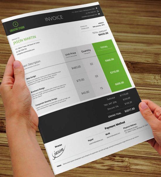 23 Contoh Faktur Invoice Tagihan dengan Desain Menarik