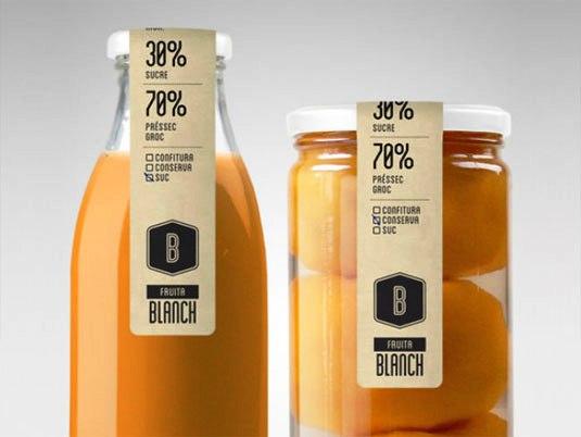 Desain Kemasan Unik Menarik - packaging design - Fruita Blanch