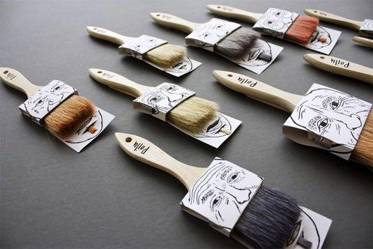 Contoh Desain Kemasan Unik Menarik - Contoh desain kemasan unik menarik - packaging design - Poilu paintbrushes