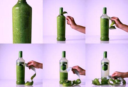Contoh Desain Kemasan Unik Menarik - Contoh desain kemasan unik menarik - packaging design - Smirnoff Caipiroska peelable bottle