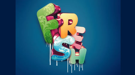 Tutorial Membuat Effek Teks di Photoshop - 3D-typographic-effects-in-Photoshop-Nik-A