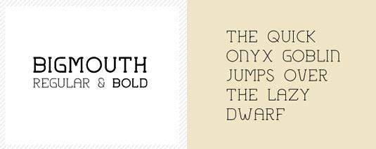 Download 100 Font Gratis untuk Desain Grafis dan Web - Bigmouth Free Font