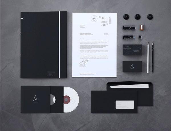 Desain Stasioneri Inspiratif Siap Print dan Cetak - Branding Mock-up