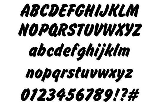 Brush Hand New Free Font - Macam Macam Jenis Font Huruf