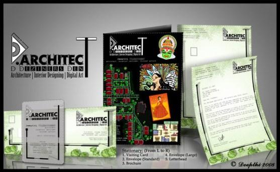 Contoh Desain Kop Surat dan Kartu Nama Paling Kreatif - Contoh-Desain-Kop-Surat-Kreatif-01-Architect-Stationery-Design