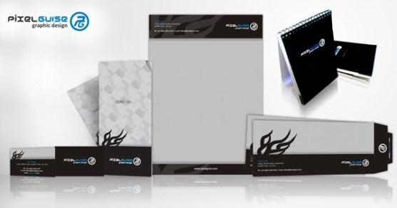 Contoh Desain Kop Surat dan Kartu Nama Paling Kreatif - Contoh-Desain-Kop-Surat-Kreatif-01-Stationery-Design-Practice
