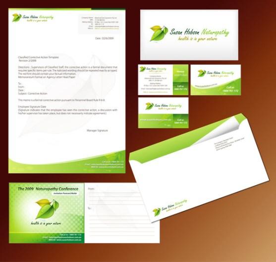 Contoh Desain Kop Surat dan Kartu Nama Paling Kreatif - Contoh-Desain-Kop-Surat-Kreatif-01-Stationery-Design-for-Naturopathy-Client
