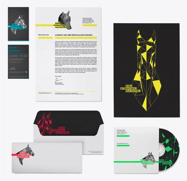 Desain Stasioneri Inspiratif Siap Print dan Cetak - Dubai Film Festival