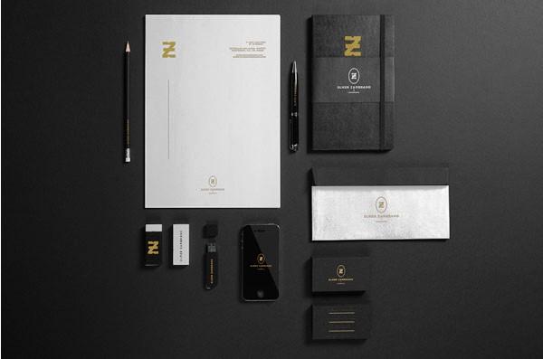 Desain Stasioneri Inspiratif Siap Print dan Cetak - Elmer Zambrano Branding