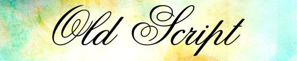 Font Kaligrafi Terbaik - Font Kaligrafi Old Script