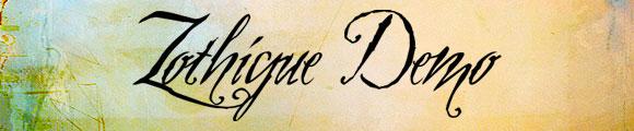 Font Kaligrafi Terbaik - Font Kaligrafi Zothique Demo