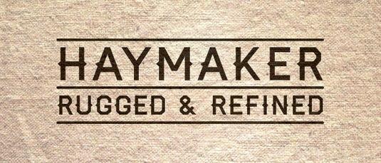 Download 100 Font Gratis untuk Desain Grafis dan Web - Haymaker Free Font