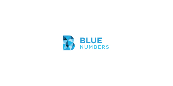 Contoh Desain Logo Institusi Keuangan - Logo Keuangan Blue Numbers