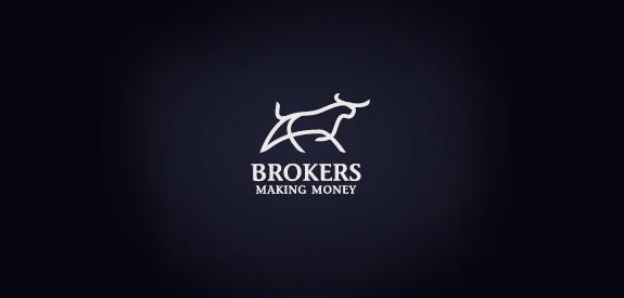 Contoh Desain Logo Institusi Keuangan - Logo Keuangan Brokers